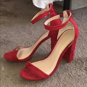Red high Heels from Lulus!